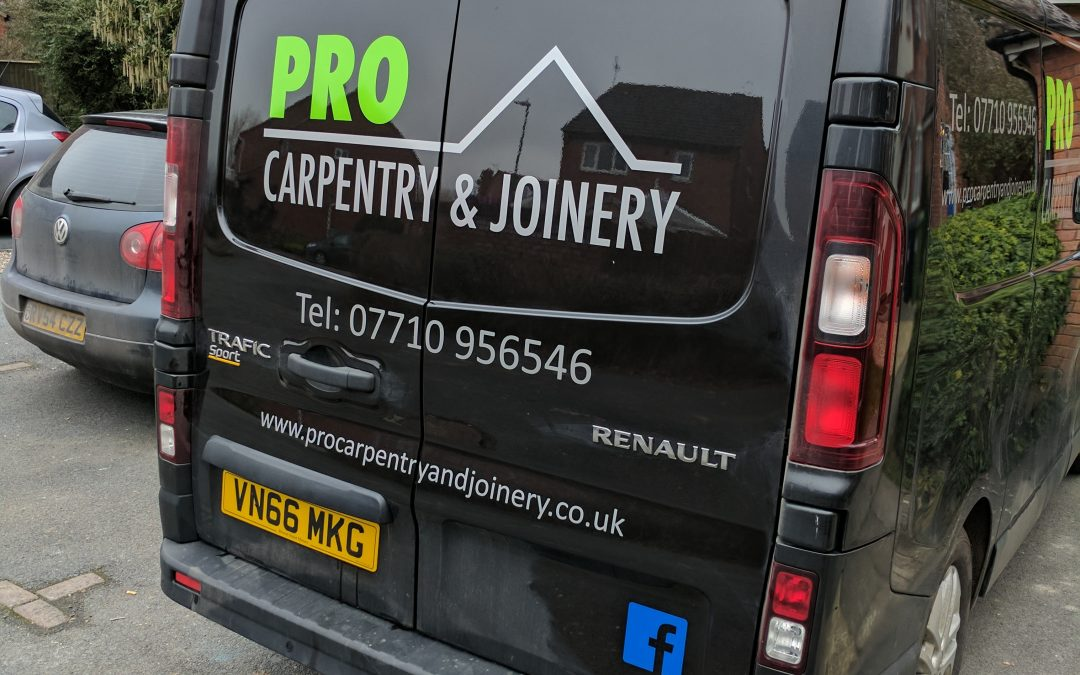 The van has its signwriting